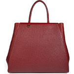 Fendi Leather 2Jours Tote in Cherry Red