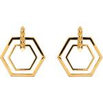Eddie Borgo Gold-Plated Large Lattice Hoop Earrings
