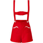 Olympia Le-Tan Wool Mini Lederhosen in Red
