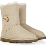 UGG Australia Suede Bailey Button Boots in Sand
