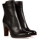 LAutre Chose Leather Ankle Boots in Black