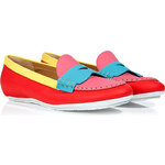 Marc Jacobs Multicolored Colorblock Leather Loafers