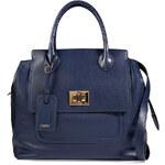 Emilio Pucci Leather Tote in Blue/Black