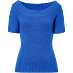 Michael Kors Cashmere Boat-Neck Pullover in Royal