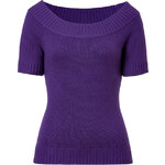 Michael Kors Cashmere Boat-Neck Pullover in Grape