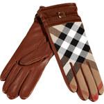 Burberry London Dark Tan Bridle House Check Nicola Gloves