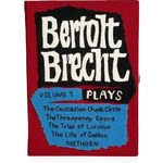 Olympia Le-Tan Handcrafted Bertolt Brecht Clutch in Burgundy
