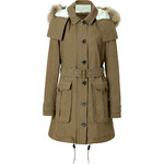 Burberry Brit Cotton Dundee Coat in Olive Brown