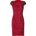 Jenny Packham Silk Sequined Dress in Rojo