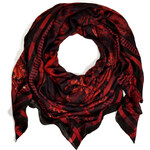 Balmain Cashmere Blend Scarf in Black/Red