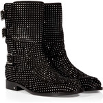 Laurence Dacade Suede Studded Boot in Black