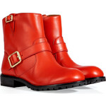 Marc by Marc Jacobs Leather Biker Boots in Red