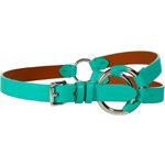 Ralph Lauren Black Label Turquoise Tri Strap Crescent O-Ring Belt