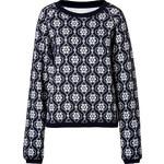 Suno Cotton Blend Intarsia Knit Pullover