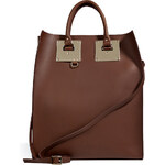 Sophie Hulme Leather Convertible Tote in Brown