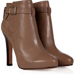 Diane von Furstenberg Leather/Suede Charise Ankle Boots in Honey Wheat