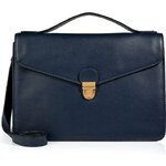Marc by Marc Jacobs Leather Top Handle Satchel in Deep Sea Navy