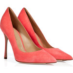 Sergio Rossi Suede Pointed Toe Pumps in Ibis