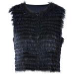 Steffen Schraut Darling Fur Vest in Deep Blue