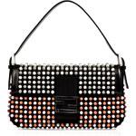 Fendi Black-Multi Studded Claudia Baguette Bag