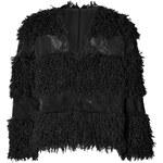 Anna Sui Faux Fur Jacket in Black