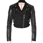 Burberry Brit Leather/Cotton Kellowl Jacket in Black