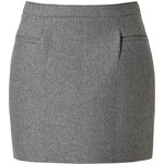 J.W. Anderson Wool-Blend Sponge Mini Skirt in Grey