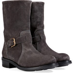 Ralph Lauren Collection Suede Ankle Boots in Dark Charcoal