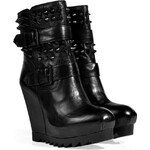 Ash Leather Ankle Boots in Black