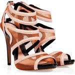 McQ Alexander McQueen Blossom Mesh/Patent Leather Sandals