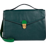 Marc by Marc Jacobs Leather Top Handle Satchel in Teal Goblet Multi