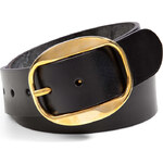 Ralph Lauren Collection Leather Bridle Belt in Black