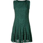 Anna Sui Eyelet Dress in Forest Green