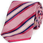 Brioni Pink-Multi Striped Silk Standard Tie