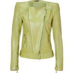 Roberto Cavalli Leather Jacket in Dark Acid Lemon