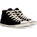 Converse Suede Chuck Taylor All Star Dainty Mid Sneakers in Black