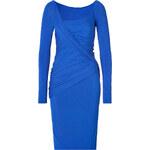 Donna Karan New York Long Sleeve Draped Dress in Electric Blue