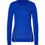 Sandro Wool-Cashmere Secret Sweater in Electric Blue
