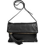 Anya Hindmarch Black Leather Huxley Clutch