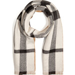 Burberry London Cashmere Scarf in Ivory Check
