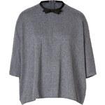 Giambattista Valli Wool-Cashmere Raglan Sleeve Pullover with Bow