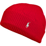Ralph Lauren Blue Label Wool-Cashmere Classic Cable Watch Cap in Pillar Red