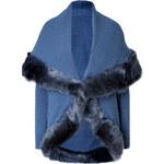 Ralph Lauren Collection Cashmere Shawl Collar Cardigan in Heather Denim Blue