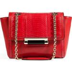 Diane von Furstenberg Snakeskin/Leather 440 Mini Crossbody Bag in Crimson