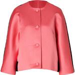 Jonathan Saunders Satin/Wool Felt Jacket in Pink/Black