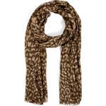 Diane von Furstenberg Modal Leopard Scarf in Spotted Cat Brown