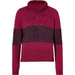 Belstaff Wool-Mohair Rathbone Cropped Pullover in Oxblood/Black