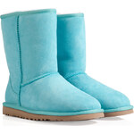 UGG Australia Leather Classic Short Boots in Lagoon