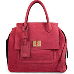 Emilio Pucci Embossed Suede Tote in Red/Black