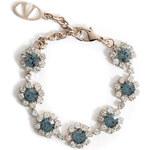 Valentino Two-Tone Crystal Flower Bracelet